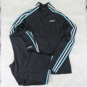 Adidas Black/Blue Track Suit